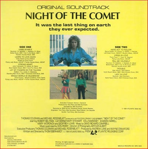 Night of the Comet soundtrack