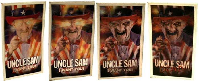 Uncle Sam 1996 lenticular poster