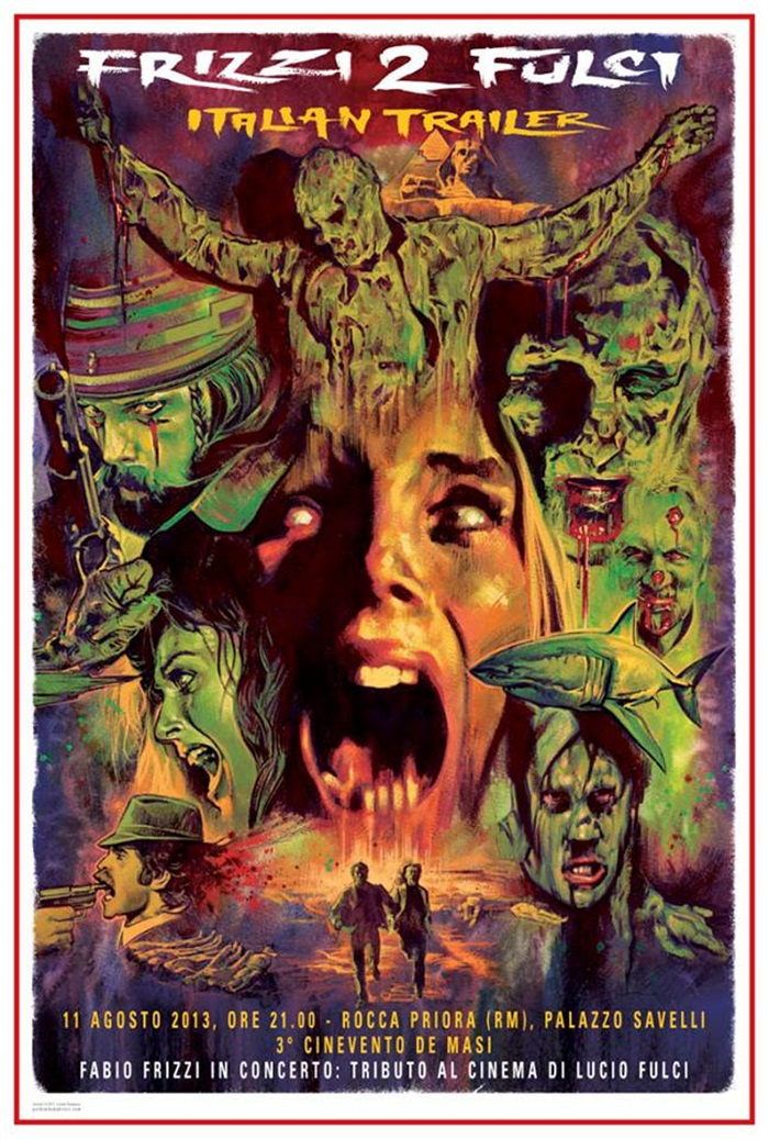 Frizzi 2 Fulci poster by Graham Humphreys